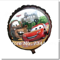Free shipping,Cartoon Aluminum Happy Birthday Decoration Cars Round Balloon for Wedding Party Supplies Foil Ballon ,18 inch