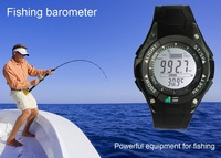 FOXGUIDER FX702B Multifunctional Watch Shaped Digital Fishing Barometer (Black & White) M.,free shipping