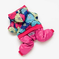 BIG FLOWER--High Quality Fashion Dog Pet Clothes Dog Snowsuit Jumpsuit Warm Winter Hoodies