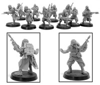DEATH KORPS OF KRIEG INFANTRY SQUAD ADVANCING ---  IA-DKK-I-001
