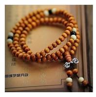 5 Pcs! T04  Fashion 108 6mm Venus Ebony Alloy Bracelets Creative Multilayer Beads Buddhism Jewelry Wholesale