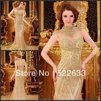 [High-Quality]Free Shipping Luxury Crystal Wedding Dress 2014 Plus Size Style 2708