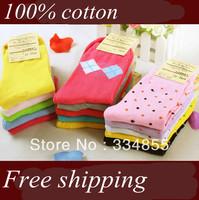 20 pieces/lot Socks female 100% cotton knee-high socks women's socks autumn and winter socks