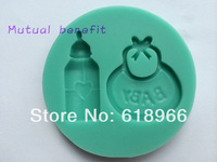 Free shipping 3D silicone cake mould,1Pcs Bottles and Packs Cake Chocolate Candy Jello silicone Decorating Mold tools
