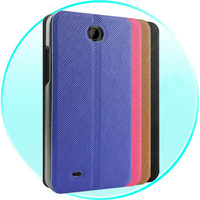 For HTC 301E Case Leather Desire 300 Case Flip Leather Case Cover for HTC 301E w/ Stand Function Black Blue Red Brown