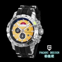 Pagani Design Quartz Dial Material TypeDial Window Material TypeFashion & Casual Stainless Steel Men's Wristwatches (CX-2638)