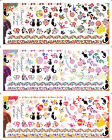 Mix Design Nail Art Sticker 3 in1 60pcs/ lot  Water Decal Water Transfer Sticker Nail Art Decorationr Free Shipping