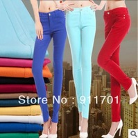 New arrival 2013 slim elastic women's skinny pants casual pants trousers multicolour candy color all-match dy-h315