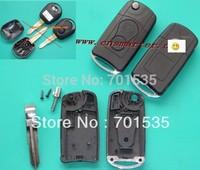 Fee Shipping Ssangyong 2 button Flip Remote Key Case Actyon SUV Kyron Rexton shell case blank