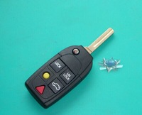 Replacement FOR VOLVO S40 V40 S60 S80 XC60 XC90 5 BUTTON Flip Key Shell Excellent Quality Lower Price