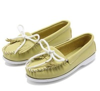 2013 women's autumn shoes single  genuine leather  nurse shoes tassel 204