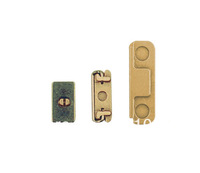 Wholesale 3 in 1 Metal Alloy Side Buttons Set (Mute Button + Power Button + Volume Button) for iPhone 5S  50pcs/lot