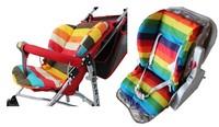 FREE SHIPPING hot waterproof baby Stroller Cushion Stroller Pad Pram Padding Liner Car Seat Pad Rainbow general cotton thick mat