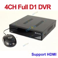 DC 5V video recorder 4ch D1 h.264 network stnad alone dvr support HDMI / VGA output dvr