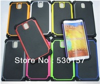 Note3 Hard Back Cover, 3 in 1 Silicone PC Combo Basketball Grain Strong Case For Samsung Galaxy Note 3 iii, 50pcs/lot DHL Free!