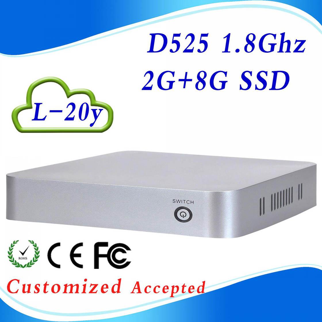 Low price and best quality cheap mini pc, htpc case mini itx case, slim pc, INTEL D525 Atom Dual-core 1.8GHz(China (Mainland))