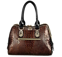 2013 paint Guaranteed 100% Genuine Leather Patent Leather Women Handbags Frence Style Ladies Tote Bag in free shipping