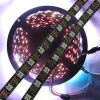 4M 240 WS2812B Black LED Pixel Srip Non-waterproof 60pcs WS2812B/M & 60 IC DC5V