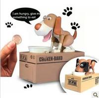Creative gift dog eat money piggy bank children birthdaygift special unique toys coin box pug nanoparticle saving moneybox