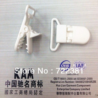 wholesale 250pcs Hot White D shape Plastic Clip for 20mm ribbon, plastic Pacifier clip, Soother Clip