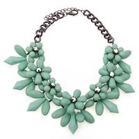2014 Korean Vintage Women Accessories Statement Necklaces Colorful Flowers Pendants Bijoux Choker Statement  Necklace 3 Colors