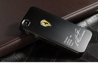 Ferrari Sports Logo Brushed Metal Case For iPhone 5 i5 Explosion Models For iPhone5 Mobile Shell Protective Shell