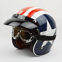 Free shipping!Fashion brand TORC T-50 vintage motorcycle helmets captain america 3/4 capacete American flag open face helmet