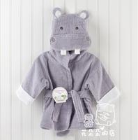 unisex baby bathrobe animal hooded boy girl/cotton towel kid's robe/children infant bathing robe/Little Sun