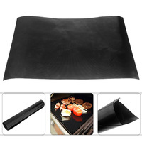 2pcs/lot Home Kitchen Nonstick BBQ Roast ToolsTeflon Barbecue Cooking Accessories Grill Mat Microwave Oven Use Free Shipping