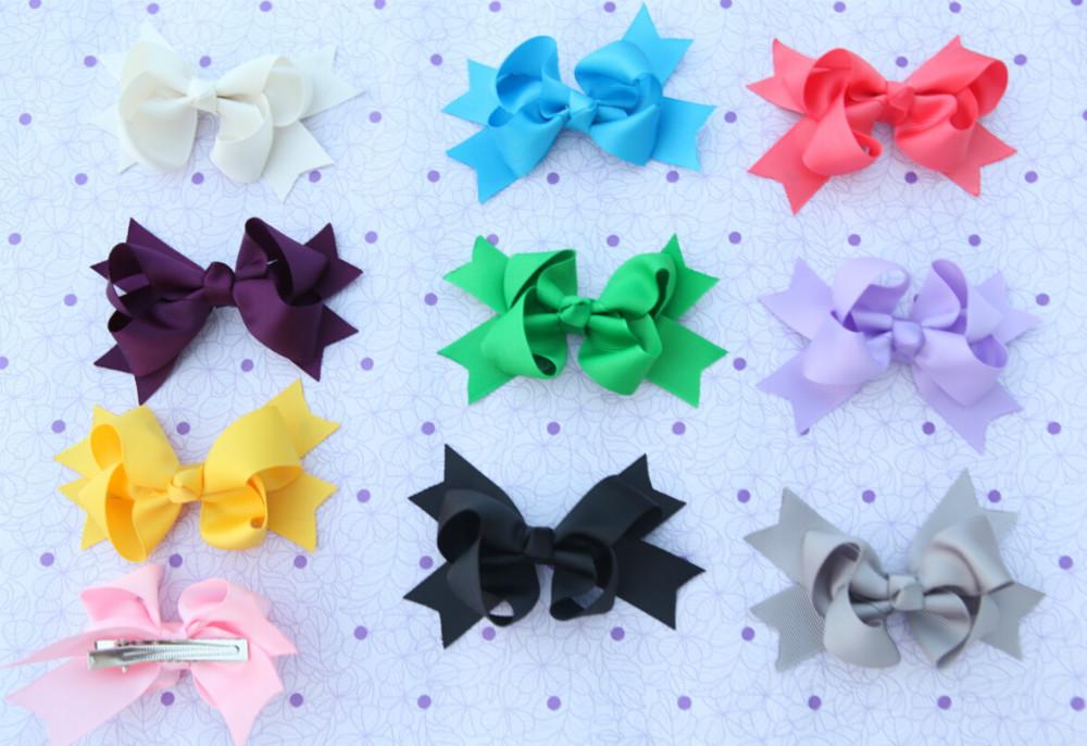 3.5'' Baby Girl Ribbon Big Bow Hair Clip Baby Rosette Hairpins Hair Grips Girls Bow-knot Hair Bows Headbands Hair Accessories(China (Mainland))