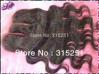 "6A gradePeruvian virgin 3 parts closures body wave swiss top piece closures 4x4"" swiss bleached knots color 1b free shipping"
