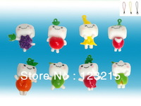 lovely  fruits key chain toy keychain toy small  plastic toy pendant decoration with phone chain 8 pcs/lot