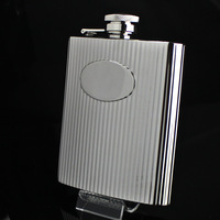 Quality 304 stainless steel hip flask 8Oz large capacity hip flask donkey hiking travel
