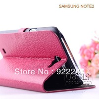 Luxury Extreme Leather Case for Samsung Galaxy Note 2 N7100 flip case new Wallet Card Stand protective cover galaxy note 2 cases
