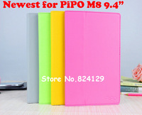 Newest High Quality Gray Folio Leather Stand Case Cover For 9.4 Inch PiPO  M8 Dual Core Tablet PC