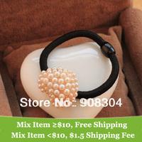 Vintage Christmas pearl heart hair band  hair jewelry  hair clip wholesale