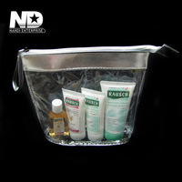 PVC-021 stock clear pvc plastic package bag and pvc cosmeticbags for lady(16X15X5cm) Free shipping