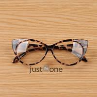 Cool Cute Fashion Women Lady Girls Cat-eye Shape Spectacle Plain Glasses Plastic Eyeglasses  Eyewears Street Photo Moda it