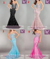 Sexy Mermaid Heavy Rhinestones Prom Dresses
