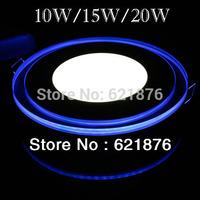 5X 10W/15W/20W Acrylic mini Recessed  Round Panel light LED Ceiling Light Bulb  AC85-265V Warm white  bright Pure white
