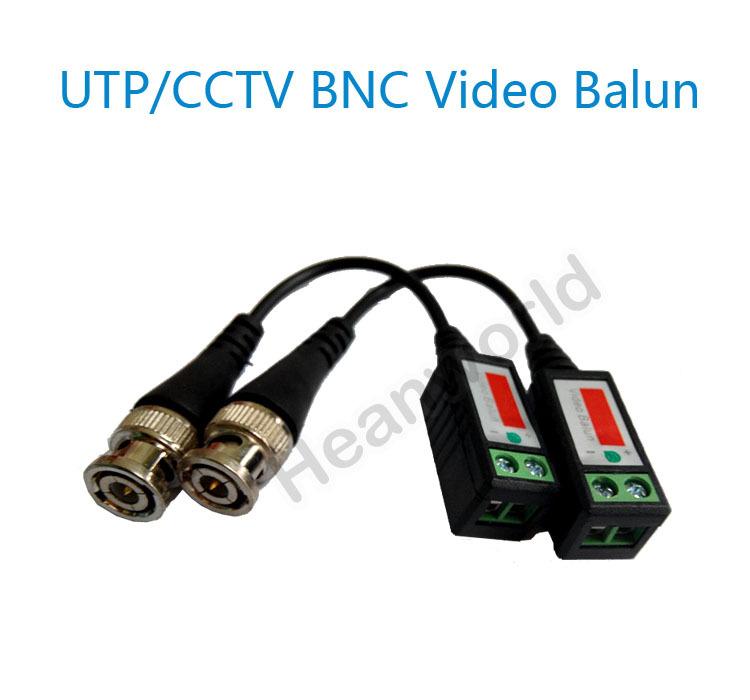 Free shipping UTP,cctv BNC video Balun cctv camera Transceivers receiver CCTV spare parts video balum for camera and DVR(China (Mainland))