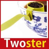 [TwoSter] Useful Homeware Plastic Spoon Tea Strainer Infuser Teaspoon Filter High Quality