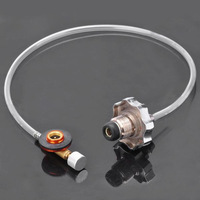 Outdoor Gas Recharging Valve for Flat Gas Tank - Transparent Silver (50cm)