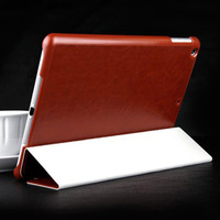 New Hot Selling Luxury Crazy Horse Pattern Flip PU Leather Stent Case for iPad Air iPad 5 with Three-Fold Free Shipping