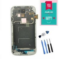 For Samsung Galaxy S4 SIV I9505 LCD Display and Touch Screen Digitizer With Frame Assembly White / BLUE colour  With Tools
