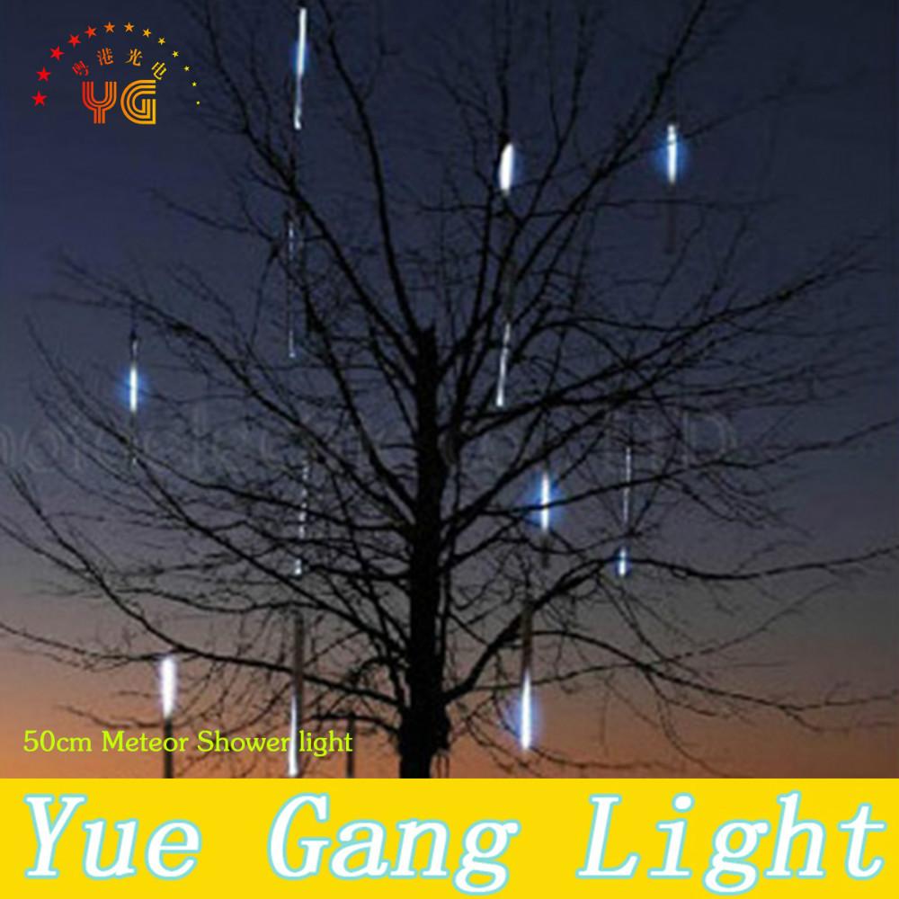 240 LED Lamp beads Meteor Shower Rain Tube Lights New year Christmas Tree light Festival Decoration 8X 50cm suit free shipping(China (Mainland))