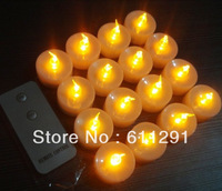 17 % Discount Free Shipping+ 78pcs+2pcs remote LED Candles with Remote Control Yellow Flash White Base Wedding Decoration