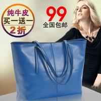 New Designer Casual Bag 2013 fashion Candy Color Genuine  leather handbag women shoulder handbags bolsas femininas