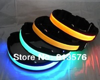 Free shipping100PCS/lot ! at the end of a big promotion !! 5colors flashing LED dog collar, LED pet collar, flashing dog collar.
