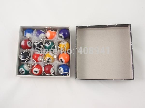 Free Shipping+Wholesale mini ball Pool Billiards snooker table ball keychain,Snooker Table Ball Key Chains,480pcs/lot(China (Mainland))